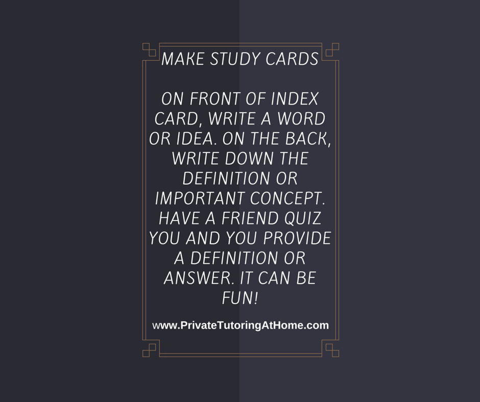 How to Study - Make Study Cards