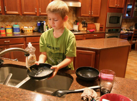 children chores kitchen