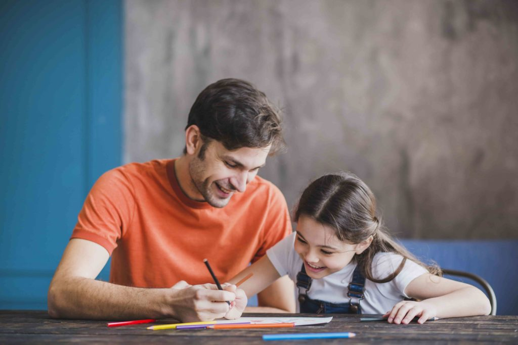 parent support kid study at home